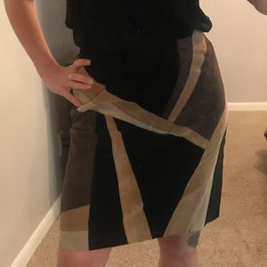 Alfani abstract leather skirted size 6